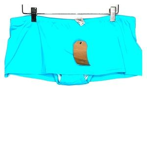 NWTs LANDS END • Crystal Aqua Swim Bikini Skirt
